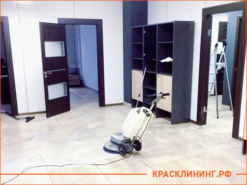 Уборка офисного помещения после ремонта