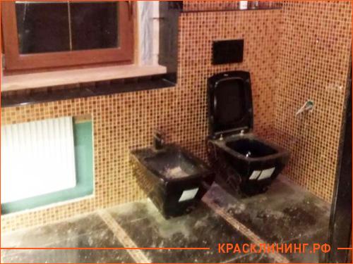 ванная комната в частном доме до начала уборки