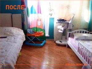 Результат текущей уборки в детской комнате